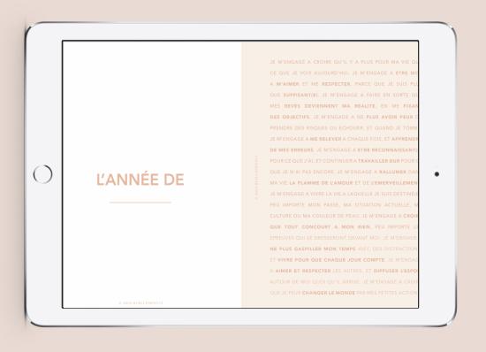 Myblueprintvf - Planner Digital Non-date pdf agenda rêves developpement personnel page annuelle