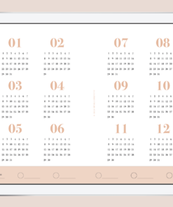 Myblueprintvf - Planner Digital Non-date pdf agenda rêves developpement personnel calendrier annuel