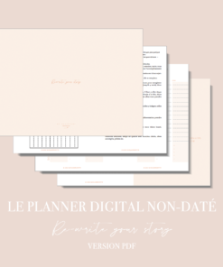 Myblueprintvf - Planner Digital Non-date pdf agenda rêves developpement personnel - Couverture