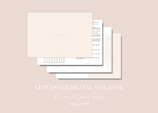 Myblueprintvf - Planner Digital Non-date pdf agenda rêves developpement personnel - Couverture