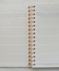 MyblueprintVF - Planner Non Daté Rewrite Your Story Agenda Rêves Développement Personnel Slow Living Semaine Hebdomadaire - Reves et Objectifs