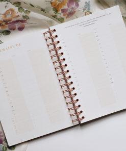 MyblueprintVF - Planner Non Daté Rewrite Your Story Agenda Rêves Développement Personnel Slow Living Semaine Hebdomadaire - Vue Hebdomadaire