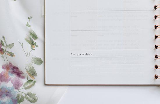 MyblueprintVF - Planner Non Daté Rewrite Your Story Agenda Rêves Développement Personnel Slow Living Semaine Hebdomadaire - Vue Mensuel Closeup 2