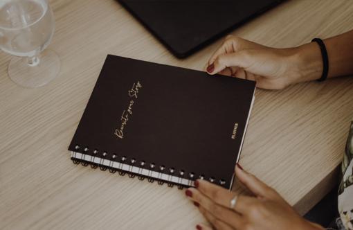 MyblueprintVF - Planner Non Daté Rewrite Your Story Noir Agenda Rêves Développement Personnel Slow Living Couverture noir effet cuir