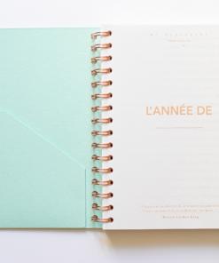 MyblueprintVF - Planner Non Daté Rewrite Your Story Bleu Agenda Rêves Développement Personnel Slow Living Couverture bleu