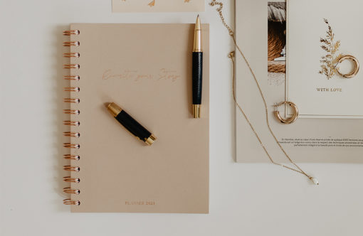 MyblueprintVF - Planner 2021 Rewrite Your Story Agenda Rêves Développement Personnel Slow Living Nude