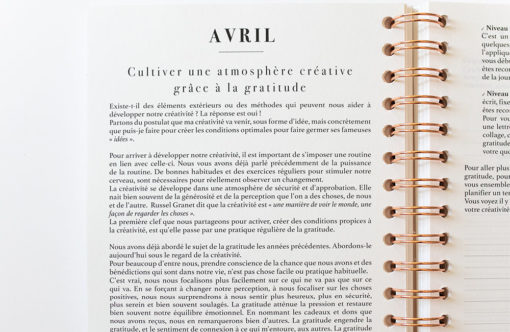 MyblueprintVF - Planner 2021 Rewrite Your Story Agenda Rêves Développement Personnel Slow Living creativite_Avril