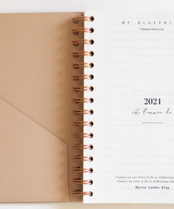 MyblueprintVF - Planner 2021 Rewrite Your Story Agenda Rêves Développement Personnel Slow Living page1