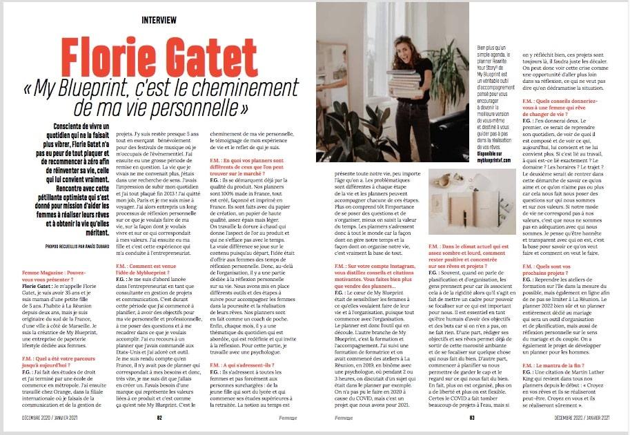 FEMME MAG Article Florie Gatet MyblueprintVF